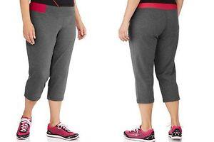 63240f08705 Details about New Danskin Women Plus Size 2X 18 20 Athletic Stretch Capris  Pink   Grey Gray