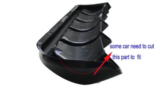 "26/""x5/"" gloss Black Car ABS Rear Shark 6 Fin Style Curved Bumper Lip Diffuser"
