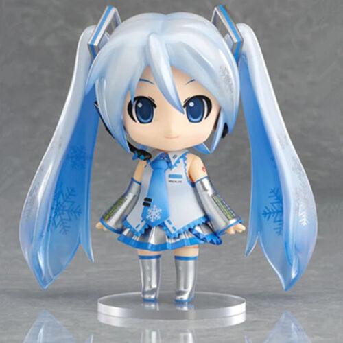 "Anime VOCALOID Hatsune Miku Project Diva Snow Miku 4/"" Action Figure Model Gift"