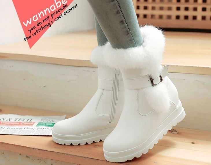 ottima selezione e consegna rapida Stivali stivaletti comodi scarpe donna bianco bianco bianco pelo sintetico  simil pelle 8729  vendite dirette della fabbrica