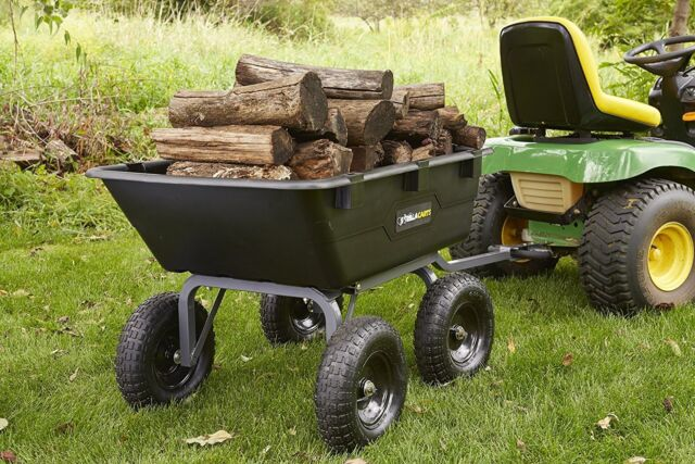 Dump Cart For Lawn Tractor Garden With Wheels Gorilla Atv Gor6ps New Design