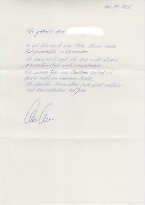 Dieter Eckstein Handgeschriebener Brief 1995 1 Fc Nurnberg Fc Schalke 04 Dfb Ebay