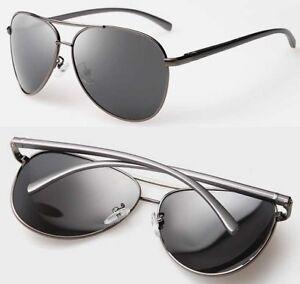 fd04efa3a5ae Men s Polarized Retro Pilot Sunglasses Metal Driving Fishing Outdoor ...