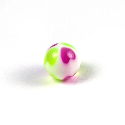 Ball PAAR Ersatz diverse Designs 5 Piercingkugel 1,6 mm Ø Schraubkugel