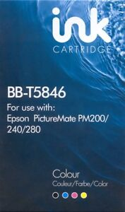 Details about 1 x Ink Cartridge Non-OEM Alternative For Epson Picture Mate  T5846, 200,240,260