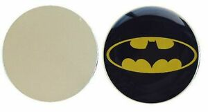 BATMAN-BLACK-amp-YELLOW-LOGO-METAL-GOLF-BALL-MARKER-DISC-25MM-DIAMETER
