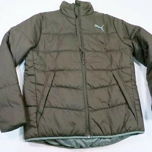 90-Men-039-s-Puma-ESS-Padded-Jacket-Size-Large-Forest-Night-NEW