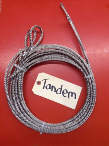 """Ice Castle Winch Replacement Cable Set 1//4/"""" Stainless Steel Tandem Ax Fish House"""