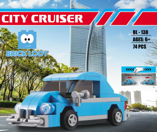 Brick Loot City Cruiser Beetle Bus Building Brick Blocks Set Kit Model VW