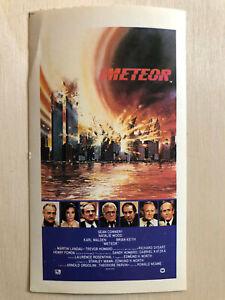 PräZise Poster Plakat Aufkleber Sticker 1979 Sean Connery Natalie Wood Karl Malde Meteor Den Speichel Auffrischen Und Bereichern Aufkleber & Sticker