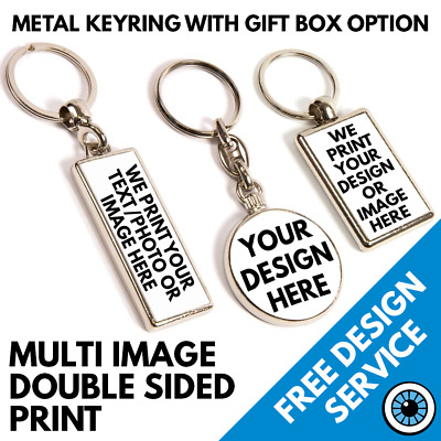 Engraved MOTORBIKE Design keyring BOXED Personalised Free Key ring