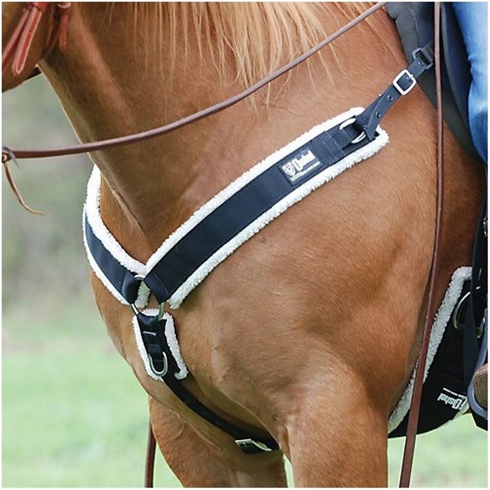 Cashel BREAST COLLAR with Fleece for western saddle horse breastcollar - BROWN
