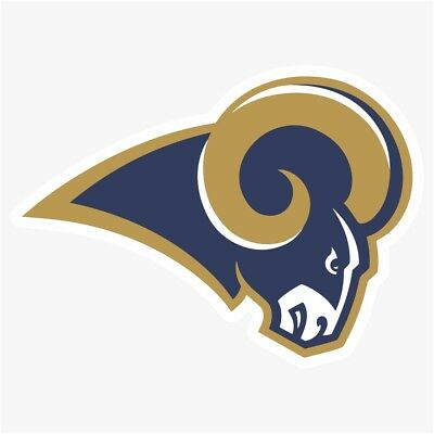 NFL St Louis Los Angeles Rams FOOTBALL HELMET Souvenir Scrapbook Bumper Stickers