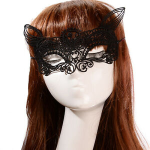 Ladies Halloween Party Fox Mask Nightclub Bar Lace Cat Face Mask Animal Festival