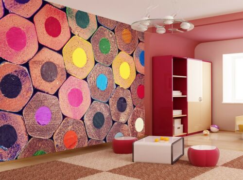 Colorful Pencils Wall Mural Photo Wallpaper GIANT WALL DECOR Paper Poster