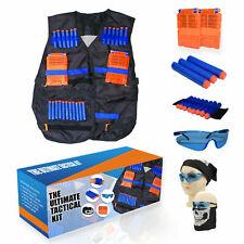 Tactical Vest Kit for Nerf N-Strike Elite w/40 Darts, 2 Magazines, Glasses, etc