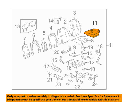 GM OEM Front Seat-Cushion Bottom Cover 20758029