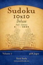 Sudoku: Sudoku 10x10 Deluxe - Facil Ao Extremo - Volume 14 - 468 Jogos by...