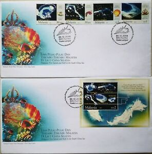 Malaysia FDC with MS & Stamps (22.12.2005) - Islands & Reefs in South China Sea