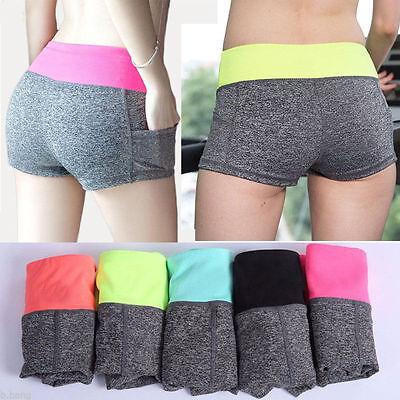 Sport Shorts Pantalon Court Élastique Gym Yoga Jogging Running Femme Fille Neuf