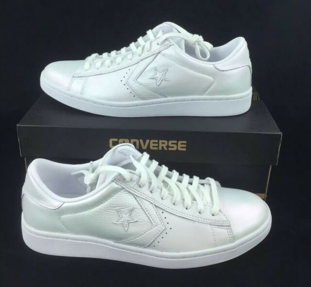 df13ea1b4 NEW Converse Pro Leather LP Ox Pearlescent White Shoes Sneakers Womens Size  9.5