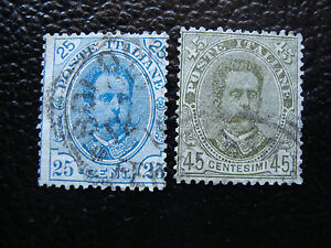 Italy-Stamp-Yvert-and-Tellier-N-61-62-Obl-A11-Stamp-Italy-I
