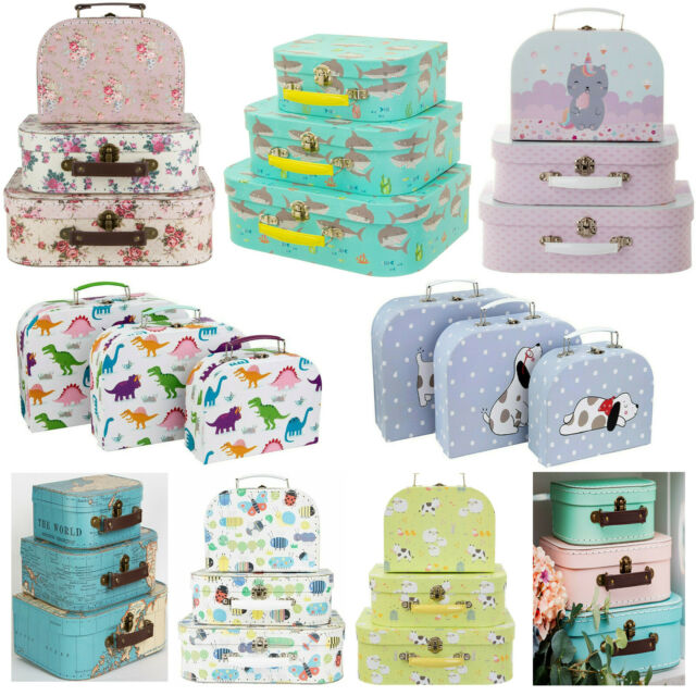 Sass and Belle Shelby the Shark Suitcases Set of 3 Kids Bedroom Storage