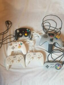 Details about lot 3 manettes pour nintendo wii u wii gamecube n64 under  control mad catz