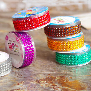 rhinestone stickers diamante gem sparkle strip crystal