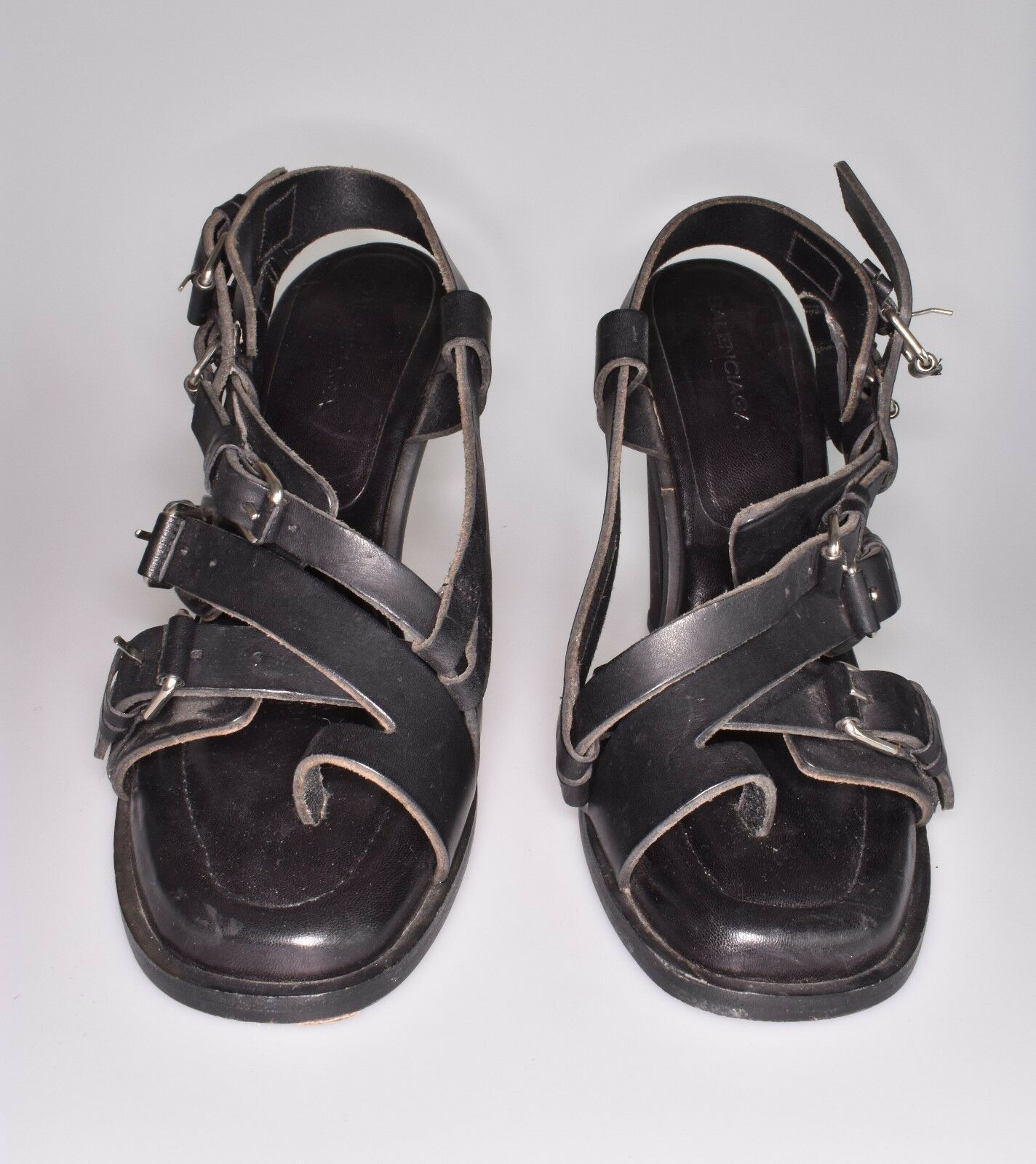 Balenciaga SANDALS Ghesquiere SS 2003 SANDALS Balenciaga SHOE SCARPE SZ 41 Amazing Collector item!!! b64c3a