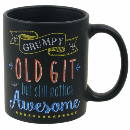 New Black Chalk Talk Collection Chalkboard Style China Mug Cup Gift Boxed 5style Dinnerware Serving Dishes Mugs