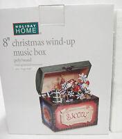Christmas Music Box Plays Jingle Bells 8 Treasure Chest Shape Snowman