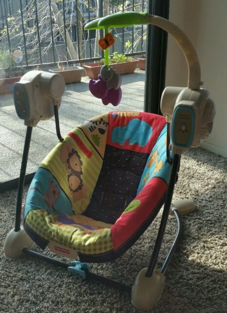 Fisher Price Space Saver Swing And Seat Luv U Zoo