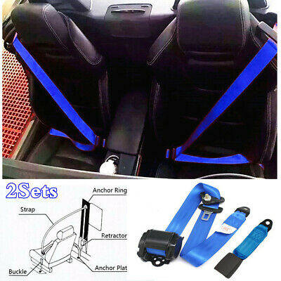 Adjustable 2 Point Lap Seat Belt for Austin Safety Strap In Blue