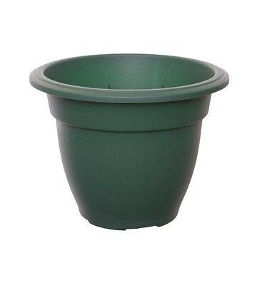 Large 38cm Round Bell Plant Pots Planters Plastic Green Colour Garden Pots