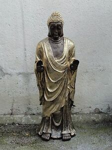 buddha budda gro statue stehend garten figur wetterfest tempelw chter 83 f110 ebay. Black Bedroom Furniture Sets. Home Design Ideas