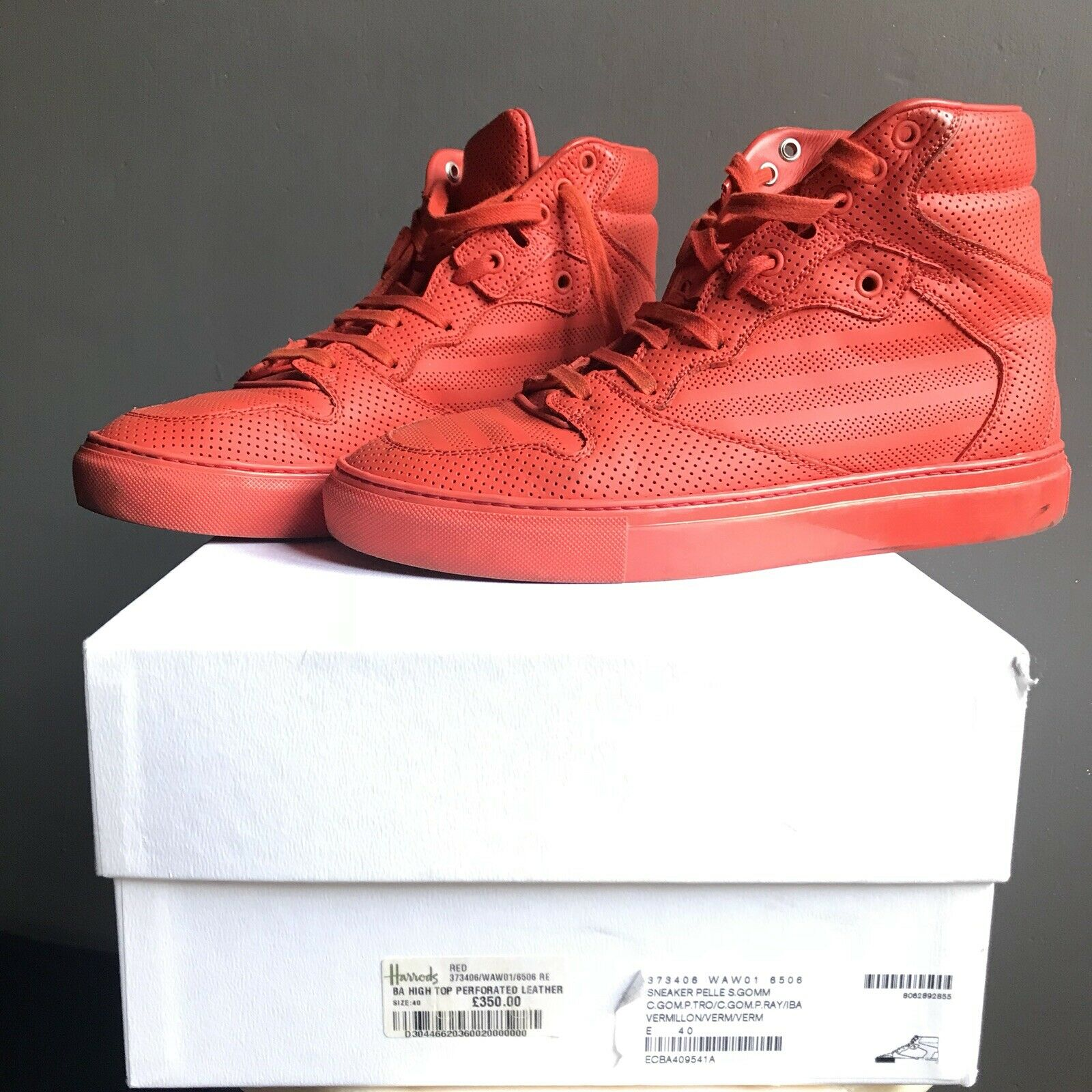 Balenciaga scarpe da ginnastica ginnastica ginnastica Piel  Perforado rosso Dimensione 40 8d8178