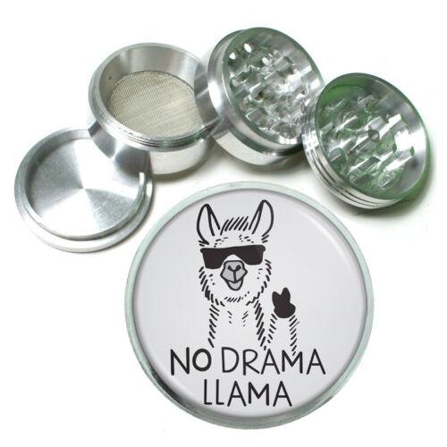 Llamas D5 Theme Aluminum Herb Grinder 63mm 4 Piece Hand Mueller