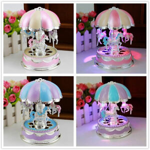 For Girls Music Box Merry Go Round Led 6 7 8 9 10 11 Year Old Kid