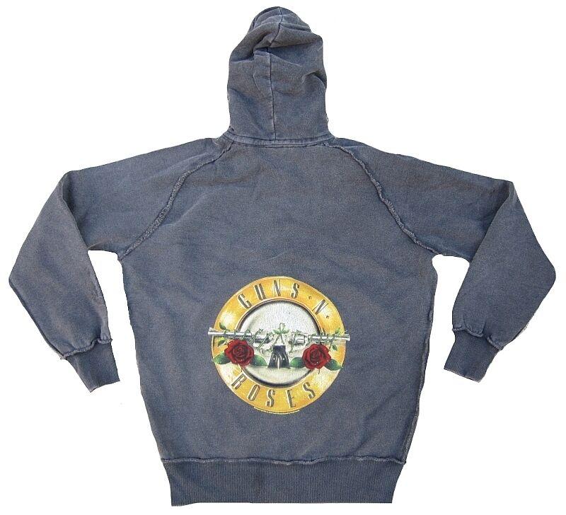 Vintage AMPLIFIED GUNS N'pinkS Drum Logo ViP Sweater Kapuzen Pulli Zip Hoodie M