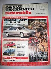 PEUGEOT 605 SL SRi (OPEL Ascona VOLKSWAGEN Polo) - Revue Technique Automobile