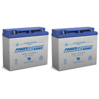 Power-sonic 2 Pack - 12v / 18ah Sealed Lead Acid Battery With Nut And Bolt Termi