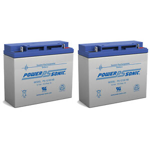 Power-Sonic-2-Pack-12V-18Ah-Sealed-Lead-Acid-Battery-with-Nut-and-Bolt-Termi