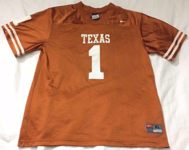 best service 65de8 14c66 Nike NCAA Texas Longhorns #1 Football Jersey Youth XL