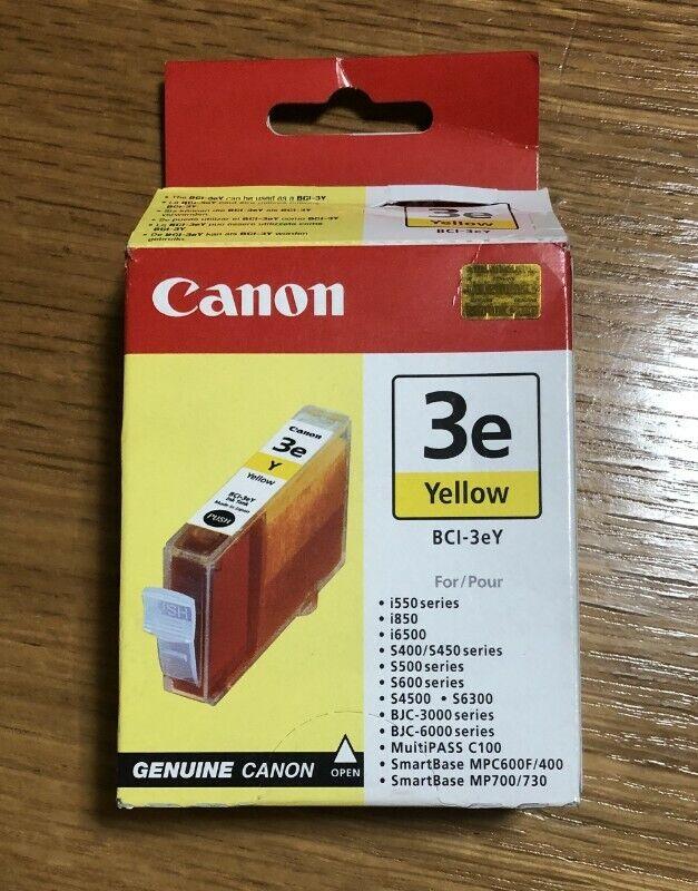 Original Canon BCI-3eY Yellow ink cartridge