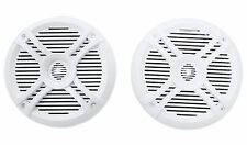 Pair Rockville RMSTS65W 6.5 800 Watt Waterproof Marine Boat Speakers 2-Way White