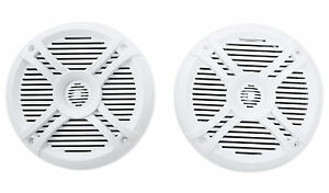 Pair-Rockville-RMSTS65W-6-5-800-Watt-Waterproof-Marine-Boat-Speakers-2-Way-White