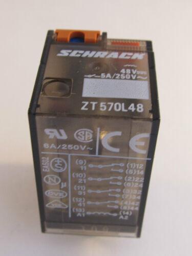 48vdc con LED 4 Zt570l48 SCHRACK CC pettine relè Caricatore