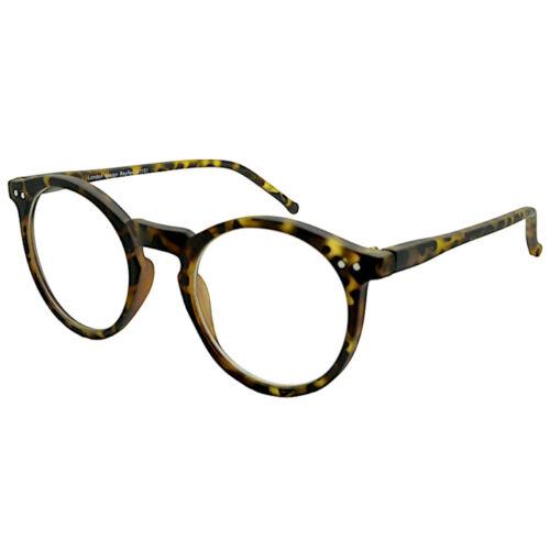 Circle Round keyhole Frame Clear Lens Glasses VTG Matt Tortoise Black Geek Nerd