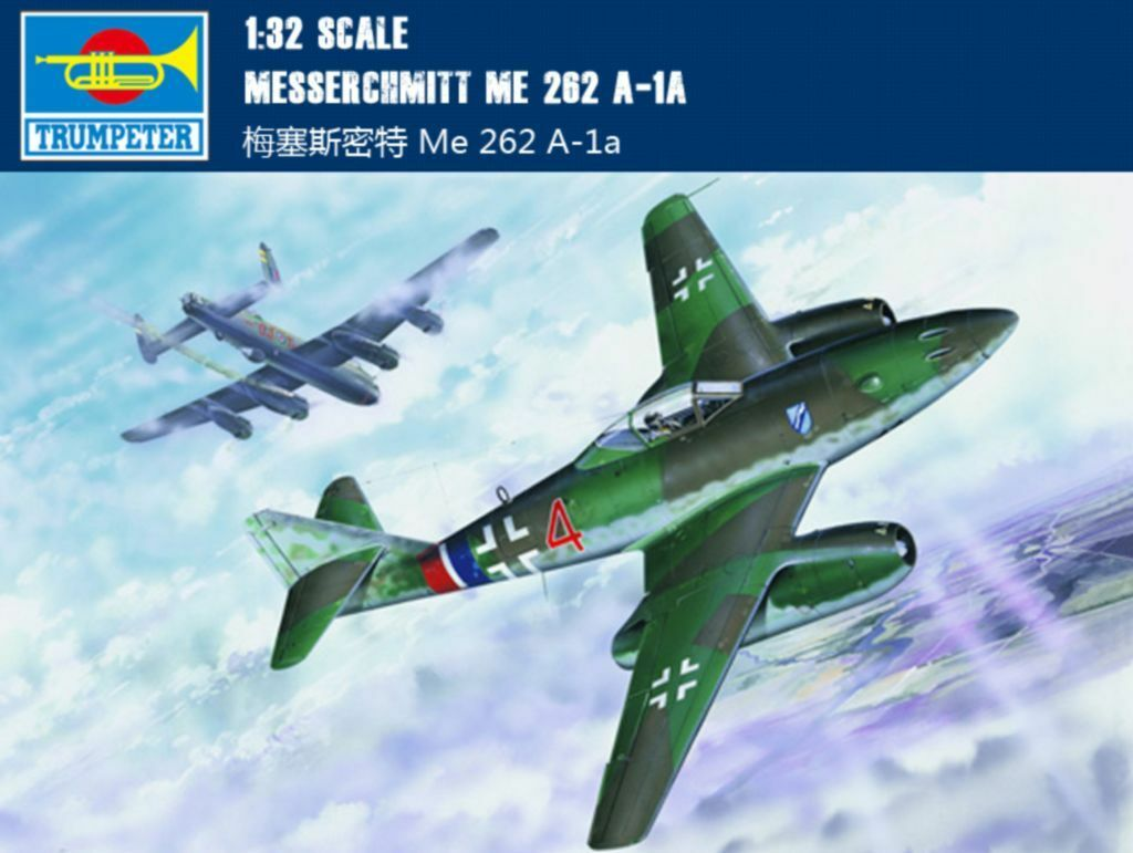 ◆ Trumpeter 1 32 02235 Messerchmitt Me 262 A-1a model kit